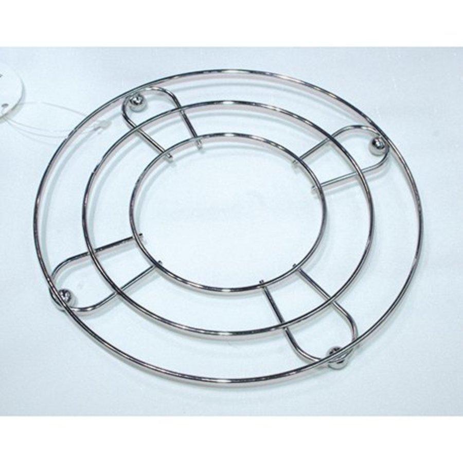 Dessous de verre chromé 18 cm environ
