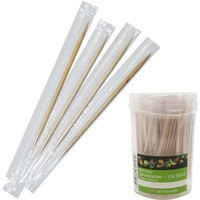 Zahnstocher 150 Stück Hygienisch einzeln verpackt, 9x4,5cm