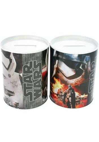 Star Wars Metall Sparschwein rund Star Wars - 10 x 7,5 cm - sortiert