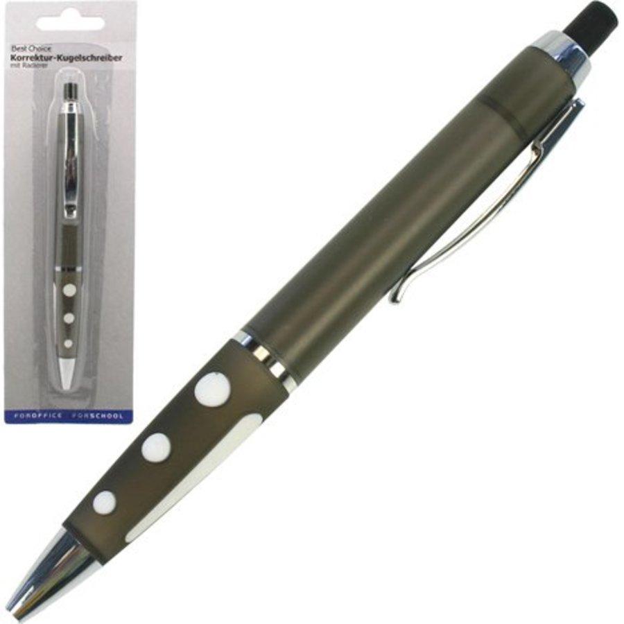 Kugelschreiber mit Radiergummi, 14cm