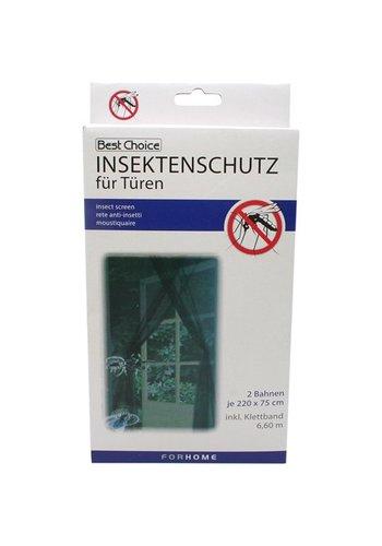 Best Choice Anti Vlieg  voor deur 2 banen a 75x220cm + klittenband.