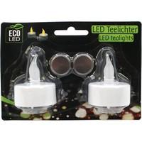 Teelichte elektrisch LED 2er je 4cm m. Batterie