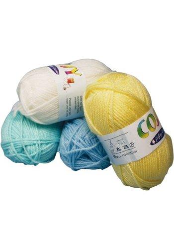 Neckermann Wolle 50g Pastellfarben 6fach sortiert 130m