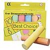 Best Choice Straßenmalkreide 6er 10cm Jumbo in Box fb.sort.
