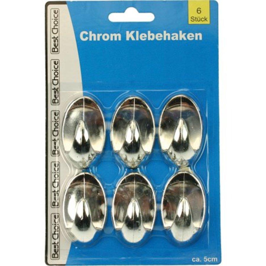 Häkeln Sie Chrom selbstklebend 5cm 6er Set für die Küche
