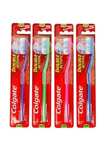 Colgate Brosse à dents COLGATE Double Action moyenne 18cm,