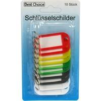 Schlüsselanhänger mit Etikett 10 Stück 5cm mit 5 Farben