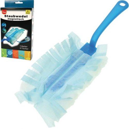 Clean Staubwedel CLEAN magnetisch 6tlg 1Halter+5Tücher