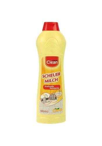Clean Lait abrasif Elina Clean 500ml agrumes pour salle de bain + cuisine
