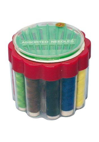 Neckermann Nähgarn 12 Farben + Gesamtsortiment Nadeln