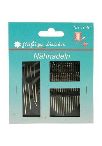 Neckermann Naainaalden set 55 delig voor elk materiaal 12x10cm