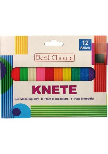 Best Choice Pâte à modeler Coloré 180g 12 Couleurs