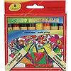 Neckermann Wachskreide 8 Farben Jumbo 13x110mm für die Schule oder zu Hause