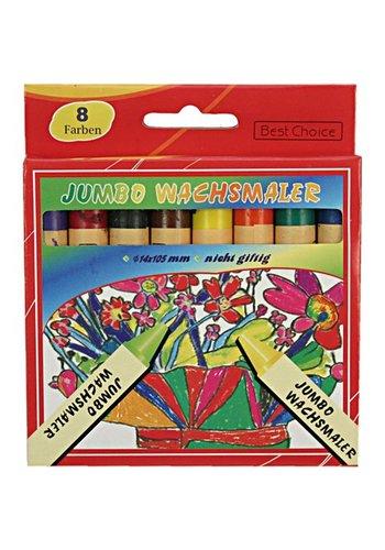 Neckermann Waskrijt 8 kleuren  Jumbo 13x110mm voor op School of thuis