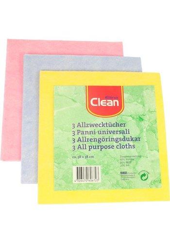 Clean Stofdoek voor alle doeleinden CLEAN 38x38cm  in drie delen