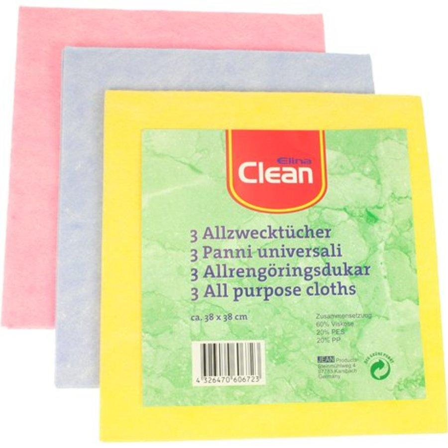 Allzweckgewebe CLEAN 38x38cm Thermokirt in drei Teilen