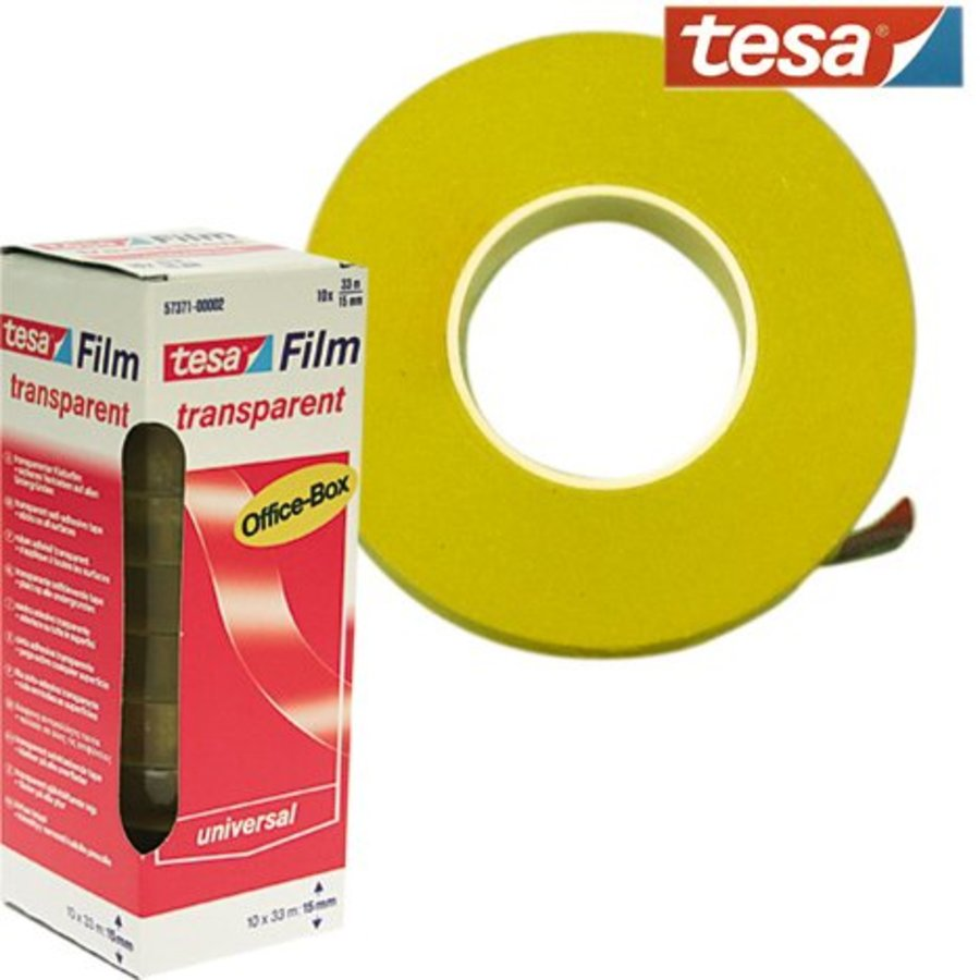 Filamentband Transparent Klebeband TESA 33mx15mm, Preis pro Rolle