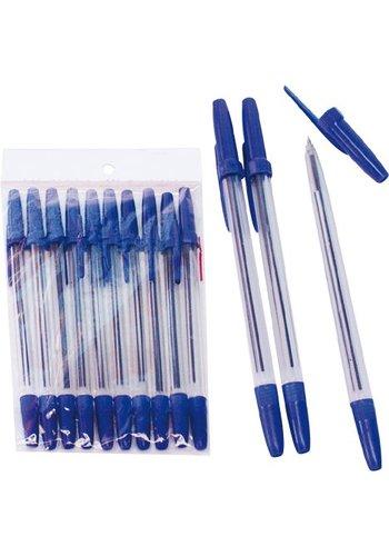 Neckermann Kugelschreiber 10 Stück 15,5 cm Blau