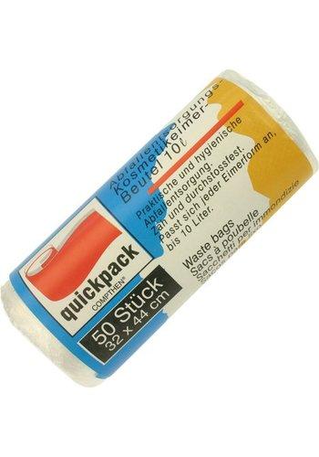 Quickpack Sac de rangement seau cosmétique 10l 32x44cm 50er Rol.5MY