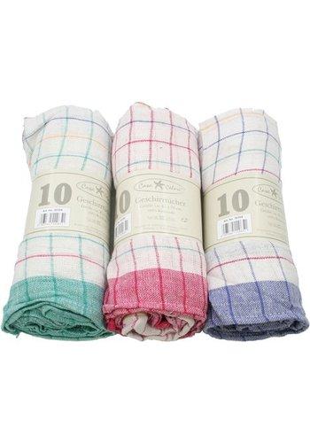 Neckermann Geschirrtuch 50x70cm ass Farbe 50g 100% Baumwolle