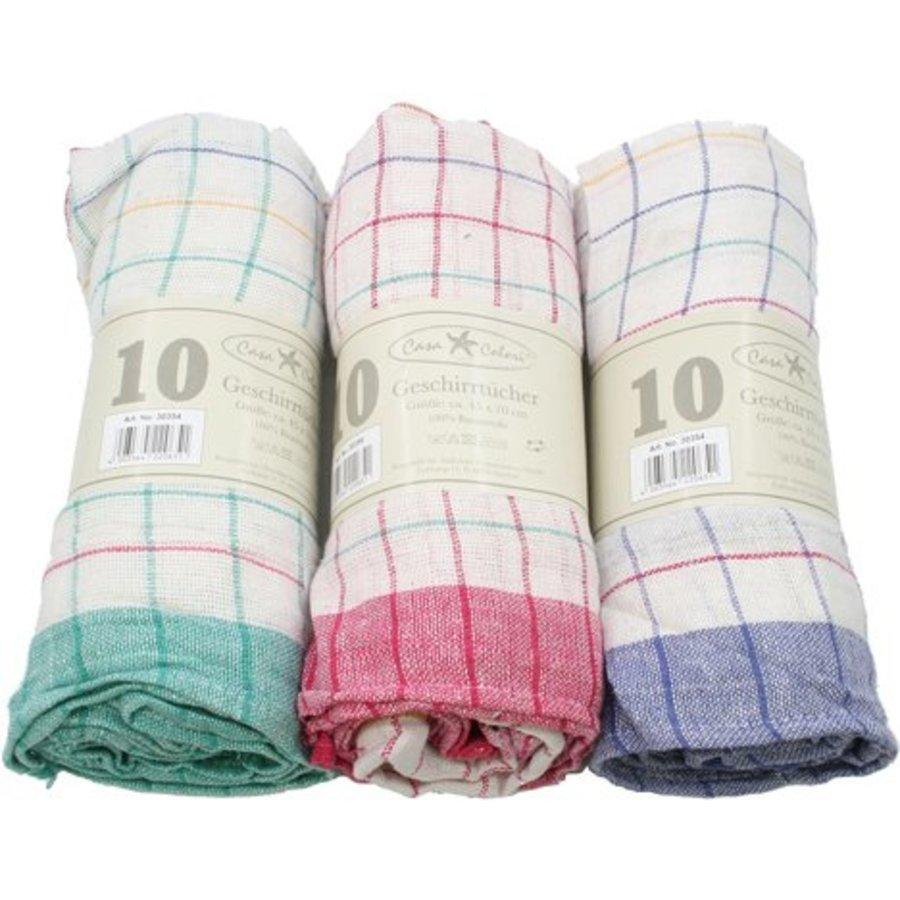 Geschirrtuch 50x70cm ass Farbe 50g 100% Baumwolle