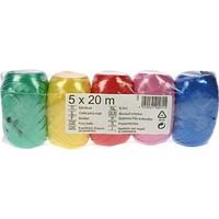 Geschenkband 20m mit 5 Farben Sortierung