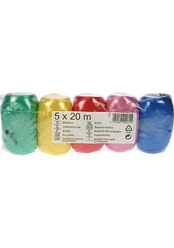 Neckermann Cadeaulint - 5x20m - gekleurd