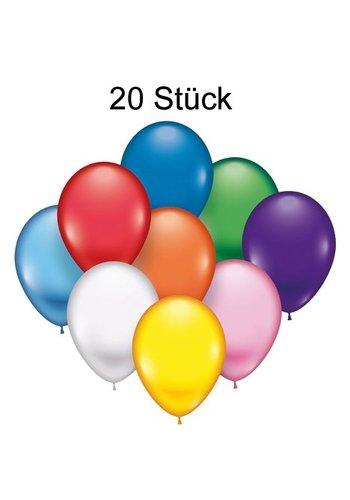 Neckermann Luftballons - 20 Stück - 22 cm