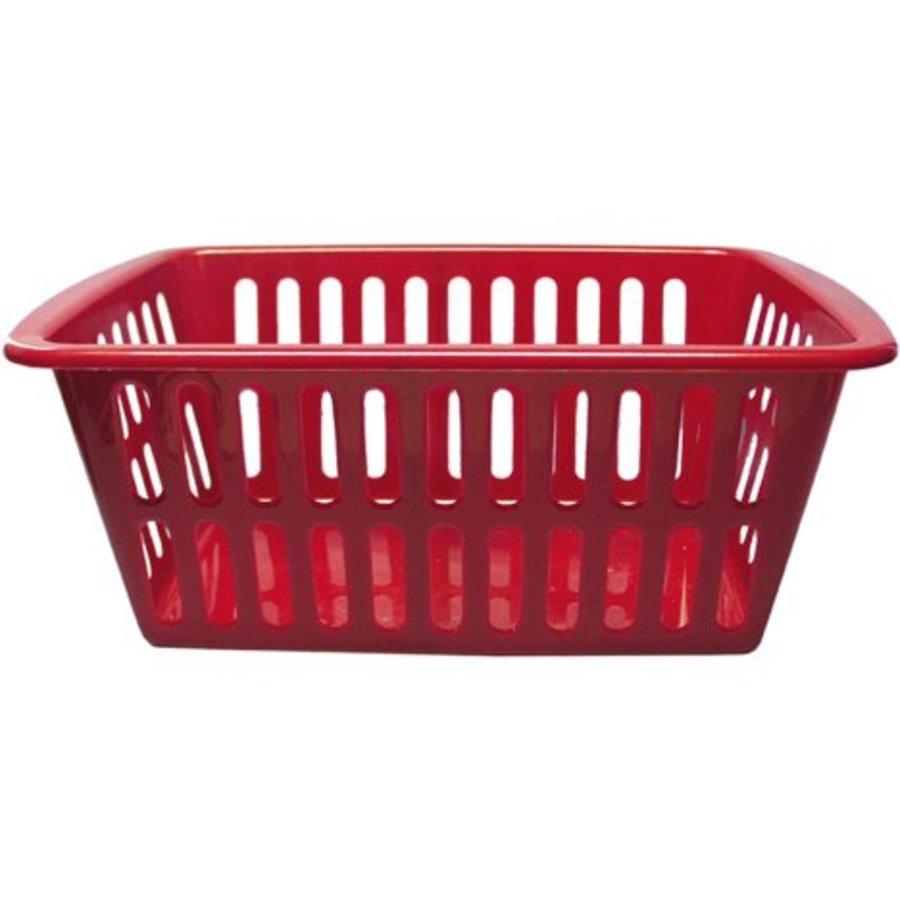 Panier de rangement - rouge - 35x24x15 cm