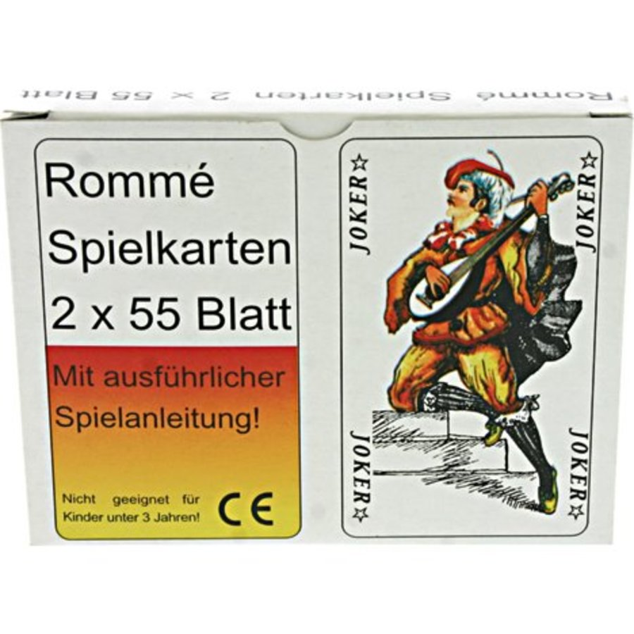 Spielkarten 2 x 55 Karten