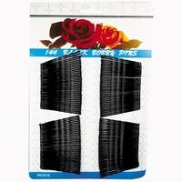 Haarspangen Metall schwarz 4,8cm 144er Karte