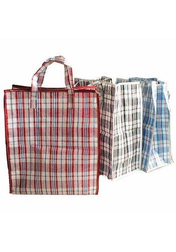 Neckermann Epicerie et sac de rangement XL 40x45x18cm à carreaux