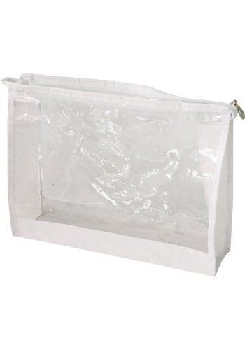 Neckermann Trousse de toilette XL 23x18x5,5cm Transp.White