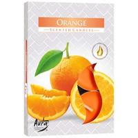 Teelichter mit Duft Orange - 6 Stück - Luxusverpackung