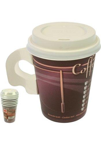 Neckermann Koffiemok - ToGo - 0,2L - 6 Stuks  met deksel