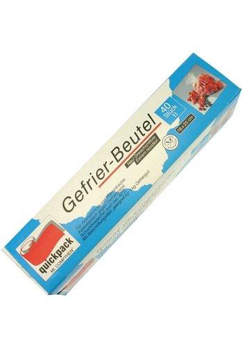 Quickpack Gefrierbeutel 1l 40er 18x25cm