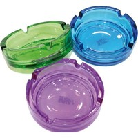 Aschenbecher Glas farbig sortiert 10,5 x 3,8cm