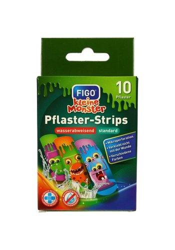 Figo Wundverband Kinder Pflaster 10er Kleine Monster