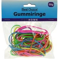 Gummibänder 50g trendige Farben sortiert 3 mm breit