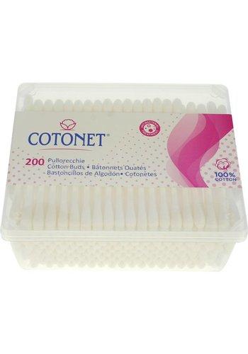 Cotonet Wattestäbchen 200 Stück transparente Baumwolle