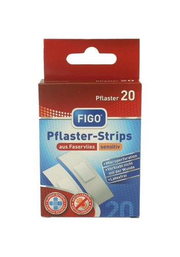 Figo Wundverband Strips 20er sensitiv latexfrei