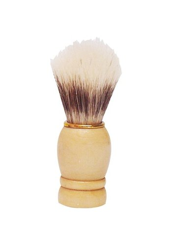 Neckermann Rasierpinsel Holzgriff mit Goldring 9 cm