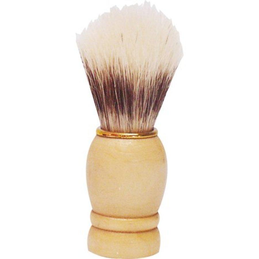 Rasierpinsel Holzgriff mit Goldring 9 cm