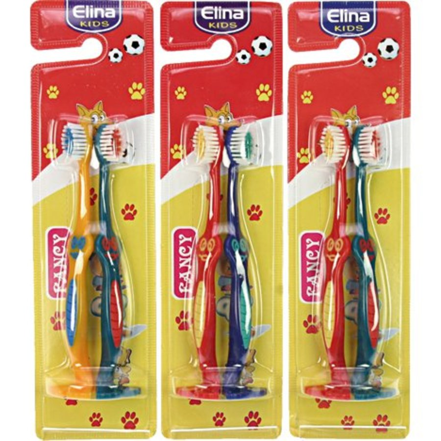 Zahnbürste Elina 2 Stück mit Fuß