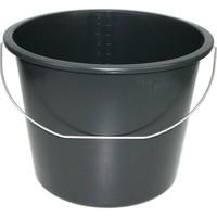 Eimer 12 Liter schwarz bedingt für den Bau geeignet