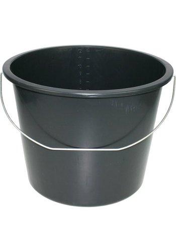 Neckermann Eimer 12 Liter schwarz bedingt für den Bau geeignet