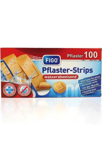 Figo Wundverband Strips 100s étanche tri 4size.