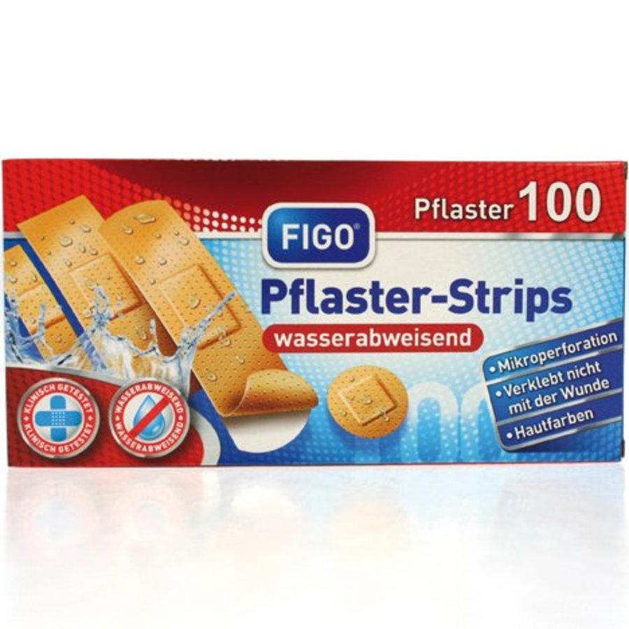 Wundverband Strips 100er wasserfest 4Größen sort.