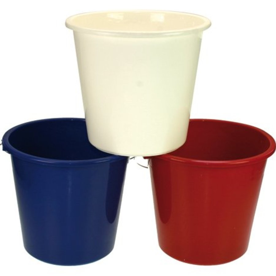 Eimer 5 Liter mit Metallgriff für den Haushalt gefärbt