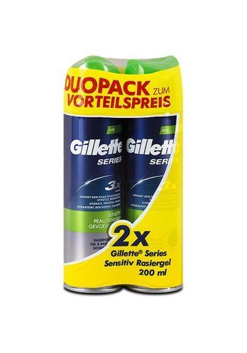Gillette Gel de rasage - sensible - 2x200 ml